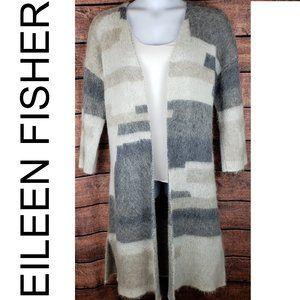 Eileen Fisher Brushed Alpaca Mohair Long Cardigan